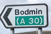 [Bodmin Road sign]