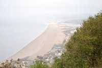 [Chesil beach taken from Portland]