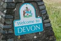 [Welcombe to Devon sign sited on Exmoor]