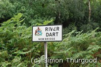 [River Dart sign at Newbridge]