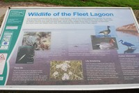 [Information board at the lagoon.]