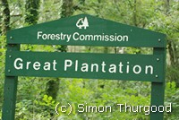 [The Great Plantation sign which the Templer way passes through]